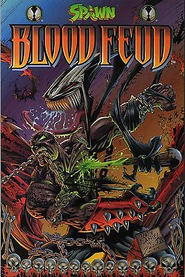 SPAWN - Blood Feud 1; Hochglanz, Paperback, Reliefcover, Image/Infinity, 1. Auf.