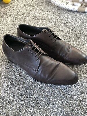 Hugo Boss Men's Brown Formal Leather Shoes Size 9 Lace Up