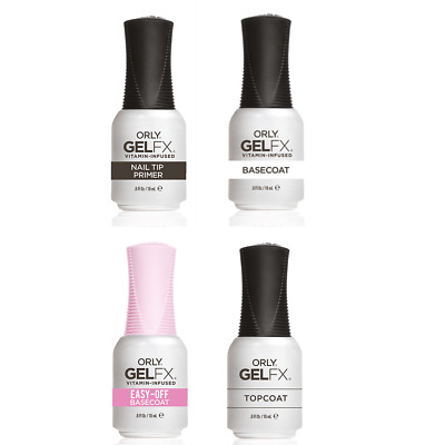 Nuovo. Orly gel fx Salon Size 18ml Top Coat / Base Coat / Primer