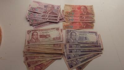 42 Old Morocco 5 & 10 Dirham Banknotes,different Types   M7