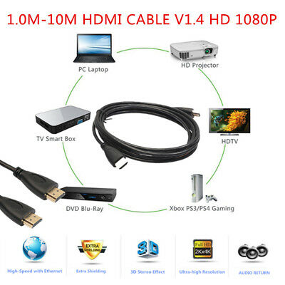 CABLE HDMI pour TV ULTRA-4K PS4 BLURAY 3D HDTV XBOX LCD HD 1080P HO11