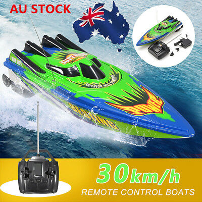 AU 30km/h Racing Remote Control Boat Ship Radio High Speed Motor RC Toy Kid Gift