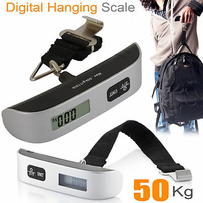 NEW 50KG DIGITAL TRAVEL PORTABLE HANDHELD LUGGAGE WEIGHING SCALE SUITCASE BAG aS