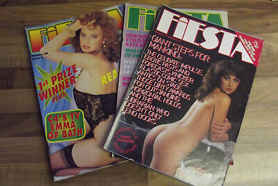 3 mens vintage  glamour magazines good condition for the age 80s 90s