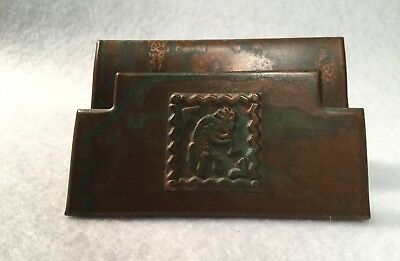 Vintage Kokopelli Copper Business Card stand