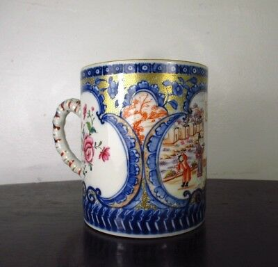 PERFECT 18thC LARGE CHINESE MUG Painted with FIGURES QIANLONG