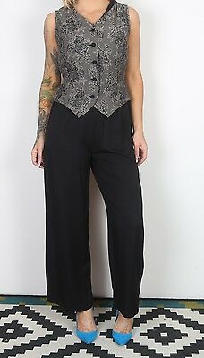 Jumpsuit UK 10 Small  All in one 1980's Vintage  80's (65H)