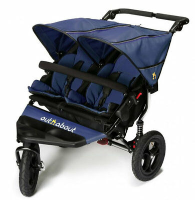 Brand new in box Out n About nipper 360 double pushchair v4 in Royal navy & pvc