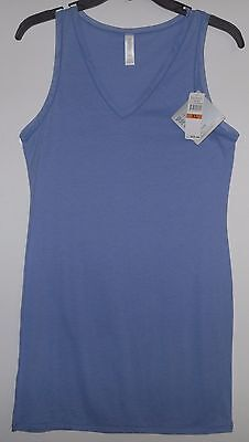 FINE LINES  Pure Cotton V-NECK CAMISOLE in Forget Me Not blue NWT $25  Sz XL