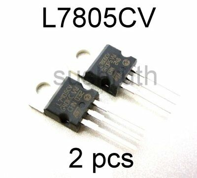 L7805CV L7805 7805  Voltage Regulator IC - 5V - 1.5A -- 2pcs