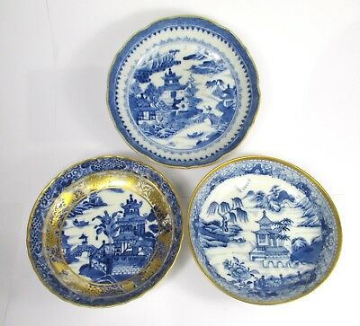 3 PERFECT CONDITION 18thC QIANLONG Saucer Dishes HIGHLY DETAILED