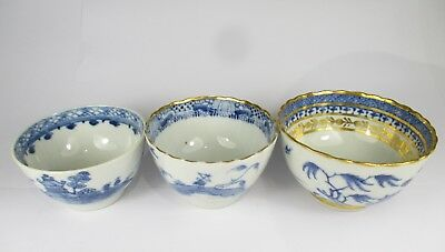 3 PERFECT CONDITION 18thC QIANLONG TEA CUPS HIGHLY DETAILED