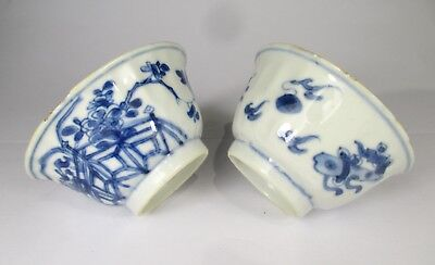 2 Very Fine Kangxi Period Porcelain Tea Cups With Marks
