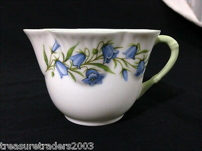 ♡ Crown China England Divine Bluebell Flower Tea Cup Scalloped Rim Bone China