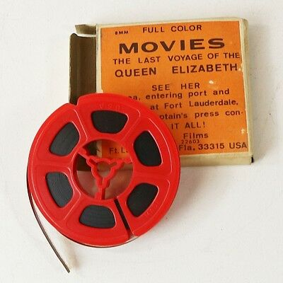 Vtg 8mm Movie- The Last Voyage Of The Queen Elizabeth, Full Color, Cruise Ship