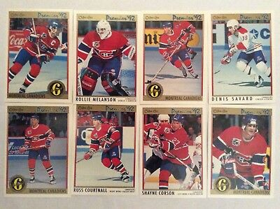 o pee chee 92 premier Montreal Canadiens lot