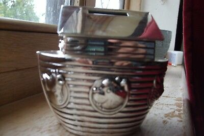 silver plated nohas ark money box