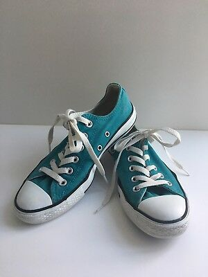 Converse All Star Sneakers Chuck Taylor Size 6-1/2 Womens 4-1/2 Mens Teal Green