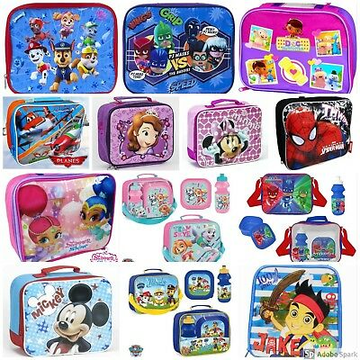 Children's Kids Character School Lunch Bag Insulated Lunch Bag Boys Girls Travel