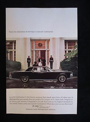 Lincoln Continental 1965 National Geographic Original Ad