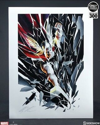 Sideshow collectibles Marvel Thor Shattered art print by Alex Ross Unframed
