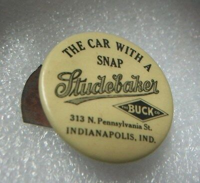 "1913 Studebaker ""The Car With Snap"" Clicker Buck Auto Indianapolis IN Advertise"
