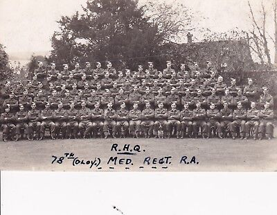 """WW1 """"R.H.Q  78th OLOY Med Reg R.A. """" unposted card"""