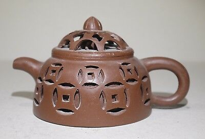 Chinese Yixing Teapot, double walled with spider