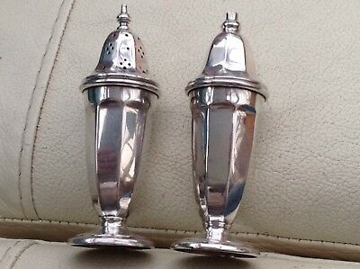 Excellent Vintage Solid Silver Pepper And Salt Shakers, 1958 - Never Used ?