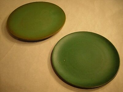 "Set of 2 Catalina Island 11"" and 10"" Platters Descanso Green Matte Lot #6"