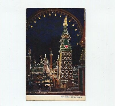Luna Park Coney Island New York Tuck postcard by artist Charles F Flower.
