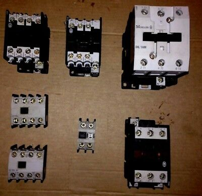 USED Klockner Moeller Contactors & Ancillaries various voltages Din Rail mounted