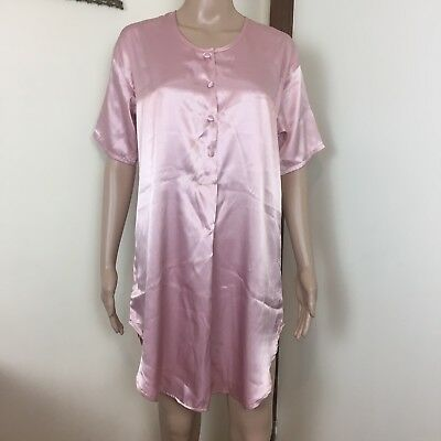 New with Tag - Vintage 80's - Baby Pink Texwear Night Shirt - Deadstock - Small