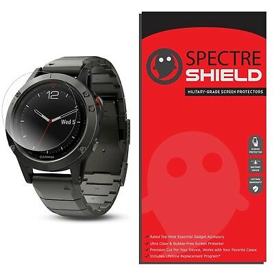 [6-PACK] Spectre Shield Screen Protector for Garmin Fenix 5 (Military-Grade)