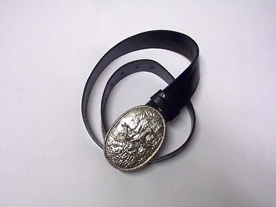 Black Leather vintage Belt for S girl country mood rare and Unic Native's hunter
