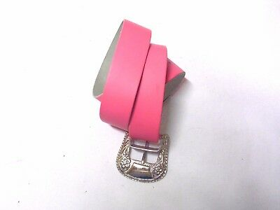 Pink leather belt S size with flowers made in italy real vintage and rare piece