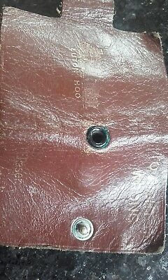 small brown leather clip binder from luton hoo