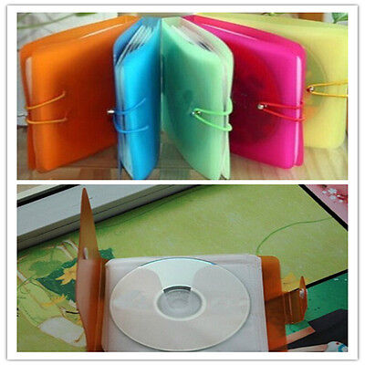 12Packs CD DVD Disc Double Sleeve Holder Pack Clear Storage Bag Useful