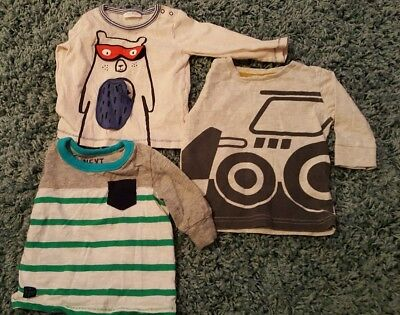 3 x next baby boys tops 3-6 months