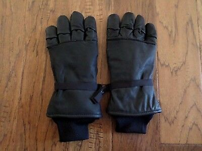 U.s Military Issue D3A Leather Gloves Cold Wet Weather X-Large Size 5 U.s.a Made