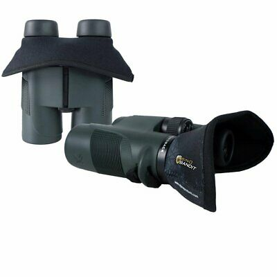 Crooked Horn Bino Bandit Binocular Shade - Blocks Wind, Glare, Improves Clarity