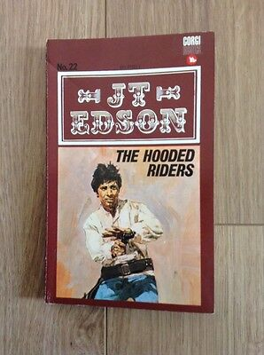 J. T. Edson (22) The Hooded Riders Paperback Book