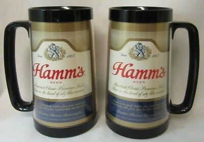 Hamm's Beer Plastic Tall Glasses. NOS