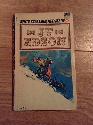 JT Edson (61) White Stallion, Red Mare Paperback Book