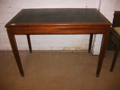 35 - Victorian Mahogany Leather Top Ladies Writing Table