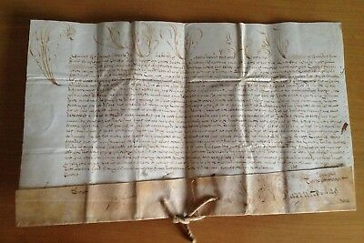 LAC VERY RARE PAPAL BULLA Parchment Vellum 1713 in name of Pope Clement XI