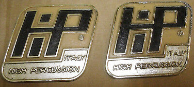 2 x Hi-Percussion Metall Badge 1970iger Jahre Vintage