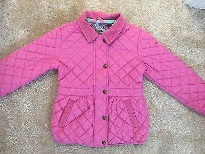 Joules Children's Girls Pink Jacket Coat Age 6 Years