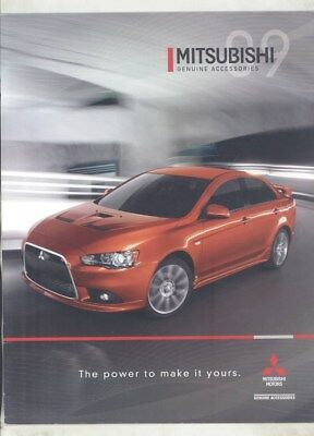 2009 Mitsubishi Eclipse Galant Lancer Outlander Accessories Brochure wy8817