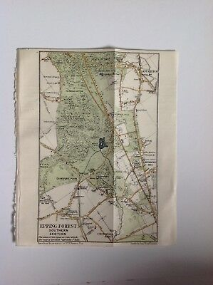 Epping Forest, Southern Section, 1920 Vintage Map,  Original
